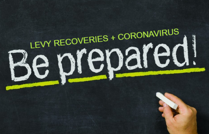 Levy Recoveries and Coronavirus Be Prepared